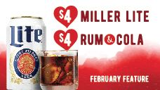February's Drink Specials