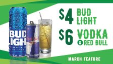 March's Drink Specials